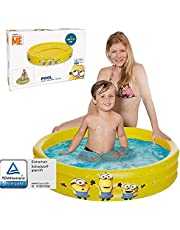 Smart Planet® Kinderbadje Minions - 3-rings zwembad opblaasbaar - 100 x 23 cm - kinderzwembad - babyzwembad - mini-zwembad - opzetzwembad