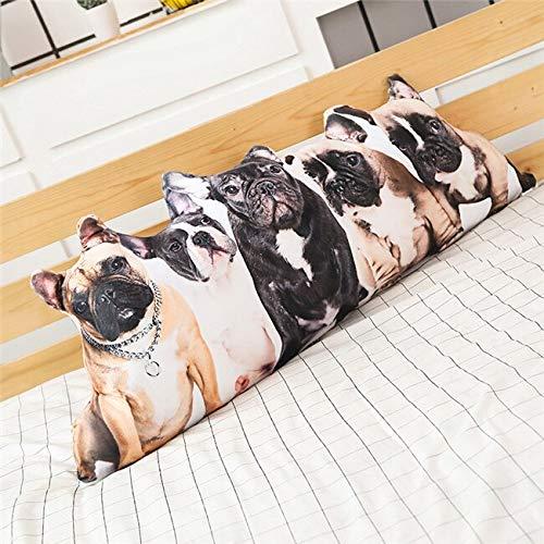 KXCAQ 75cm-100cm Perro Grande Gato Conejo Almohada de Peluche cojín muñeca Bulldog Husky hogar niño niña Regalo de cumpleaños de Vacaciones 100cmbulldog