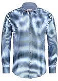 Stockerpoint Trachtenhemd OC-Martl | kariert | Regular Fit (XXL, Blau) Gr. 60-62