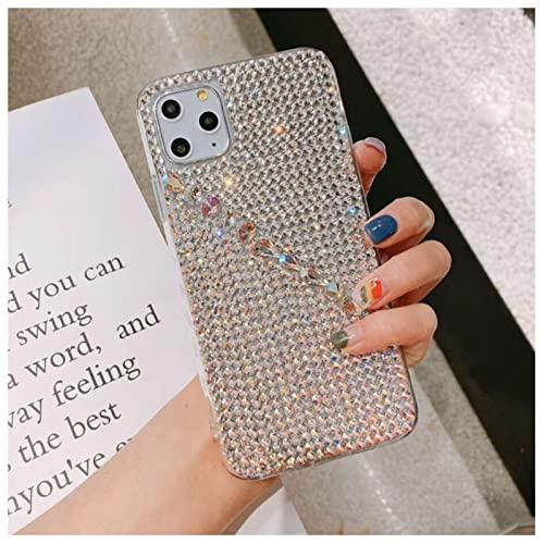 FOURTOC Cover Bling per iPhone 11 PRO Max 12 Mini 8 7 Plus Custodia Brillante Scintillante Cristallo Strass Caso Diamante Cover,Clear,X/XS
