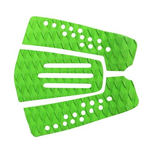lahomia 3X Tablas de Surf Deck Grip Tail Pads Estera Antideslizante para Tablas de Surf 5 Colores - Verde, Tal como se Describe