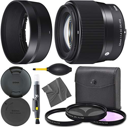 Sigma 56mm f/1.4 DC DN Contemporary Lens for Sony E (351965) + AOM Pro Starter Bundle Kit - International Version (1 Year AOM Warranty)