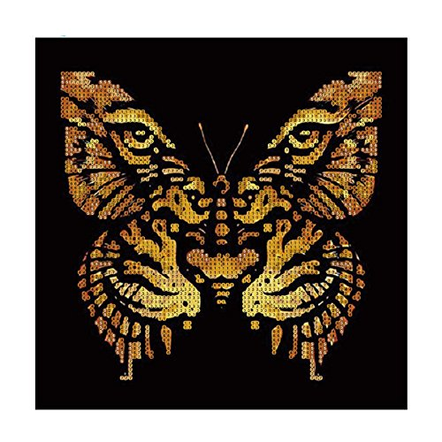 Moderne kunst Tijger Gezicht Vlinder Vorm Gedeeltelijke Boor DIY Hars Diamant Schilderen 7314