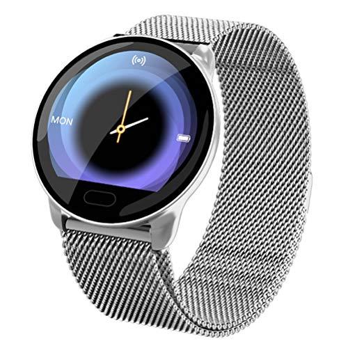 Smart Watch K9, Rastreador Actividad Prueba Agua Reloj presión Arterial Rastreador Actividad física, podómetro para monitorizar la frecuencia cardíaca y la presión Arterial, para iOS y Android