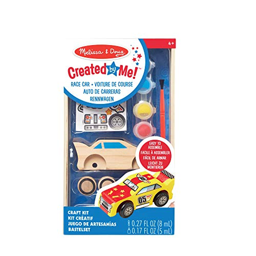 Melissa & Doug Race Car | Arts & Crafts | Pretend Play | 3+ | Gift for Boy or Girl
