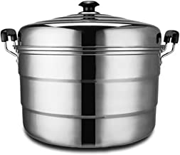 MSWL 40CM Thick Super Large Stainless Steel Three-layer Steamer Canteen Hotel Commercial Large Multi-function Three-steame...
