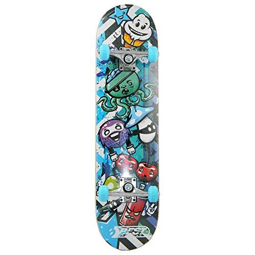 Best Sporting Skateboard Graphic, ABEC 3, max. Belastung 100 kg, Farbe:blau/schwarz