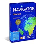 Navigator Office Card Carta Premium per ufficio, Formato A4, 160 gr, 1 Risma da 250 Fogli