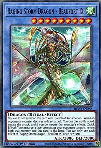 遊戯王 BLVO-EN082 Raging Storm Dragon - Beaufort IX (英語版 1st Edition ノーマル) Blazing Vortex