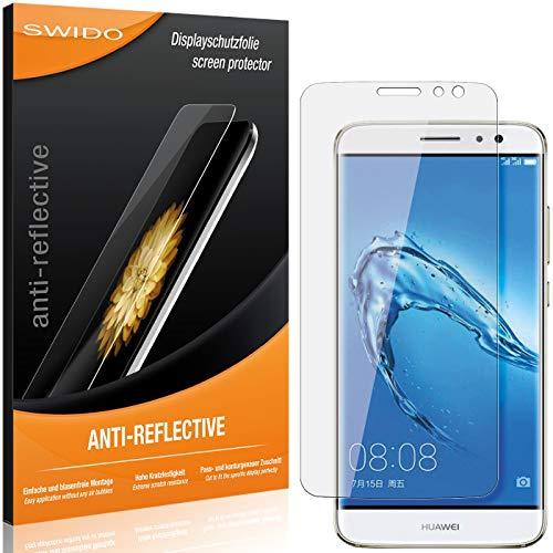 SWIDO Schutzfolie für Huawei Nova Plus [2 Stück] Anti-Reflex MATT Entspiegelnd, Hoher Festigkeitgrad, Schutz vor Kratzer/Folie, Bildschirmschutz, Bildschirmschutzfolie, Panzerglas-Folie