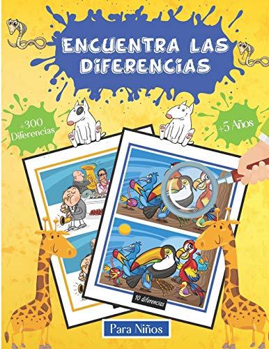 Encuentra las differencias Para Niños +5Años +300 Diferencias: Libro De...