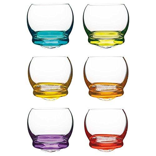 Vanilla Season - Set di 6 Bicchierini da liquore, in Cristallo Bohemia, Colorati, Ideali Come Regalo o per Feste