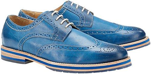 Wellensteyn Schuhe Patterson Vintage poliertes Leder (42, blau)
