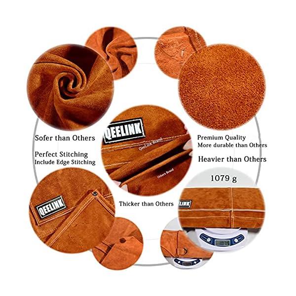 QeeLink Leather Work Shop Apron 3