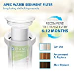APEC Water Systems FILTER-SET-ES High Capacity Replacement Pre-Filter Set For Essence Series Reverse Osmosis Water… 13 APEC Water ESSENCE Series FILTER-SET-ES is for ROES-50, ROES-PH75, ROES-PHUV75, ROES-UV75-SS and ROES-UV75 Includes (1) sediment and (2) carbon block filters to protect and extend the life of the RO system 1st stage 5 micron Polypropylene sediment filter to remove dust, particles and rust