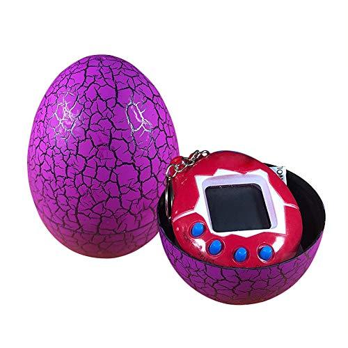 Yidarton Electronic Pets Child Toy Key Tumbler Dinosaur Egg Virtual Pets (Pink)