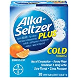 Alka-Seltzer Plus Orange Zest Cold Formula Effervescent Tablets, 20 Tablets (Pack of 3)