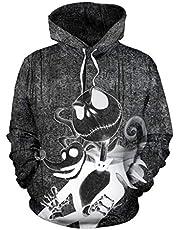 Nieuwste Capuchon Pullover Hoodies Unisex Hoodie Realistische 3D Allover Gedrukt Pullover Hooded Lange Mouw Jumper met Pocket Hipster Gym Lange Mouwen