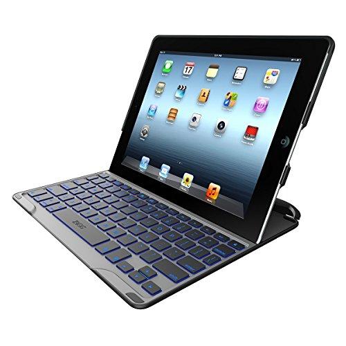 ZAGG PROfolio+ Ultrathin Case with Backlit Bluetooth Keyboard for iPad 2/3/4-Black