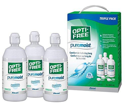 Opti-Free PureMoist Multifunktions-Kontaktlinsenflüssigkeit zur Reinigung, 3Flaschen