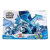 ROBO ALIVE- Ice Blasting Roaring Dragon Juguete robtico Alimentado por Pilas, Color Azul (ZURU 7115B)