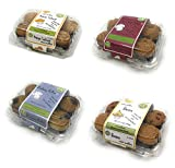 Vegan Mini Muffins 24pc. Delicious snack Made with Natural Ingredients, Plant-Based, No Artificial Colors, Flavors, or Preservatives. (Vegan Fruit Frenzy Mini Muffins)