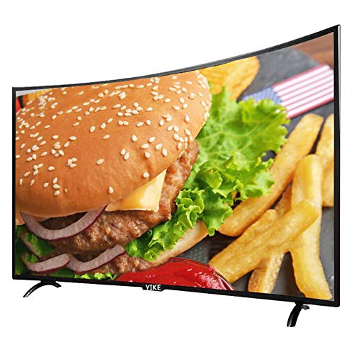 Home appliances Televisor Curvo 4K FHD de 32 Pulgadas, Televisor de Red Inteligente LED Ultrafino con WiFi, Pantalla de visualización de Vidrio Templado de Seguridad, Interfaz de TV enriquecida