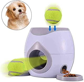 AUOKER Dog Ball Launcher Reward Machine, Interactive Dog Toys Ball Thrower, Automatic Dog Feeder with Tennis Balls for Dogs to Play and Train