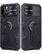 Nillkin Compatible for iPhone 12 Case, CamShield Armor Case with Slide Camera Cover, PC & TPU Impact-Resistant Bumpers Case with Ring Kickstand for iPhone 12 5.4 inch (2020)