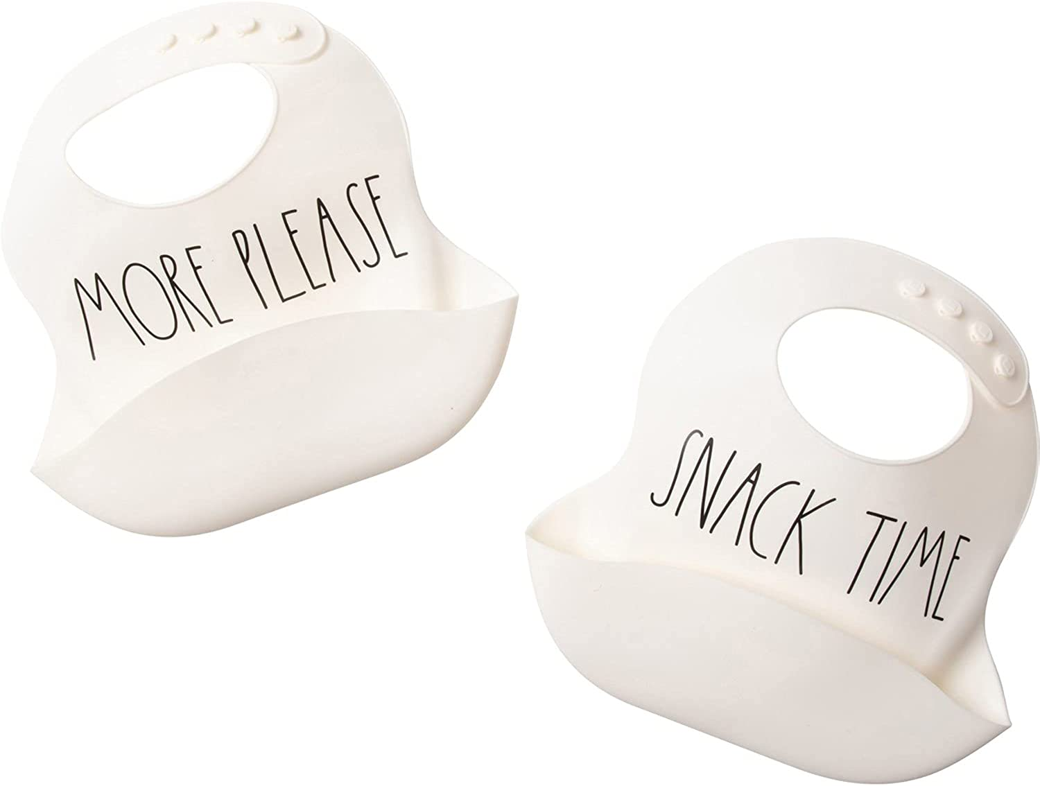 Rae Dunn baby by Magenta Set of Two Bibs