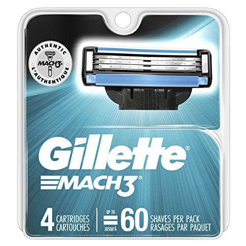 Gillette Mach3 Men's Razor Blades, 4 Blade Refills