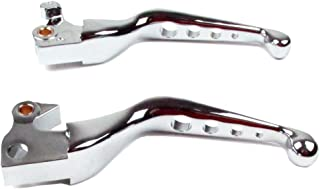 Hill Country Customs Chrome 4 Hole Wide Blade Ergonomic Brake and Clutch Levers 2007-2013 Harley-Davidson Sportster - HC-648011A
