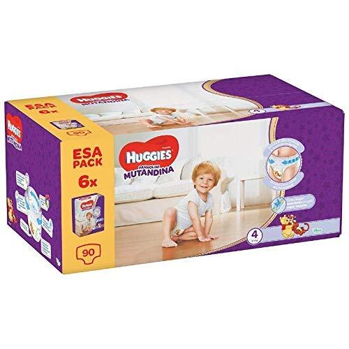 Huggies Ultra Comfort Pannolino Mutandina, Taglia 4/9-14 Kg, 6 Confezioni da 15 Pannolini (90 Pannolini)
