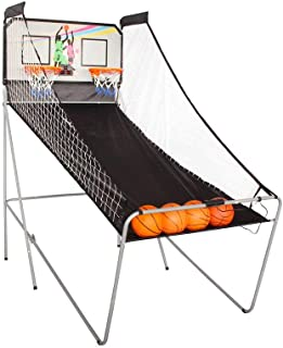 Arcade Basketball Game 2-Player Electronic Sports LED Electronic Scoring System with Realistic Arcade Sound Effects Included - 8 Different Games for 1 or 2 Players