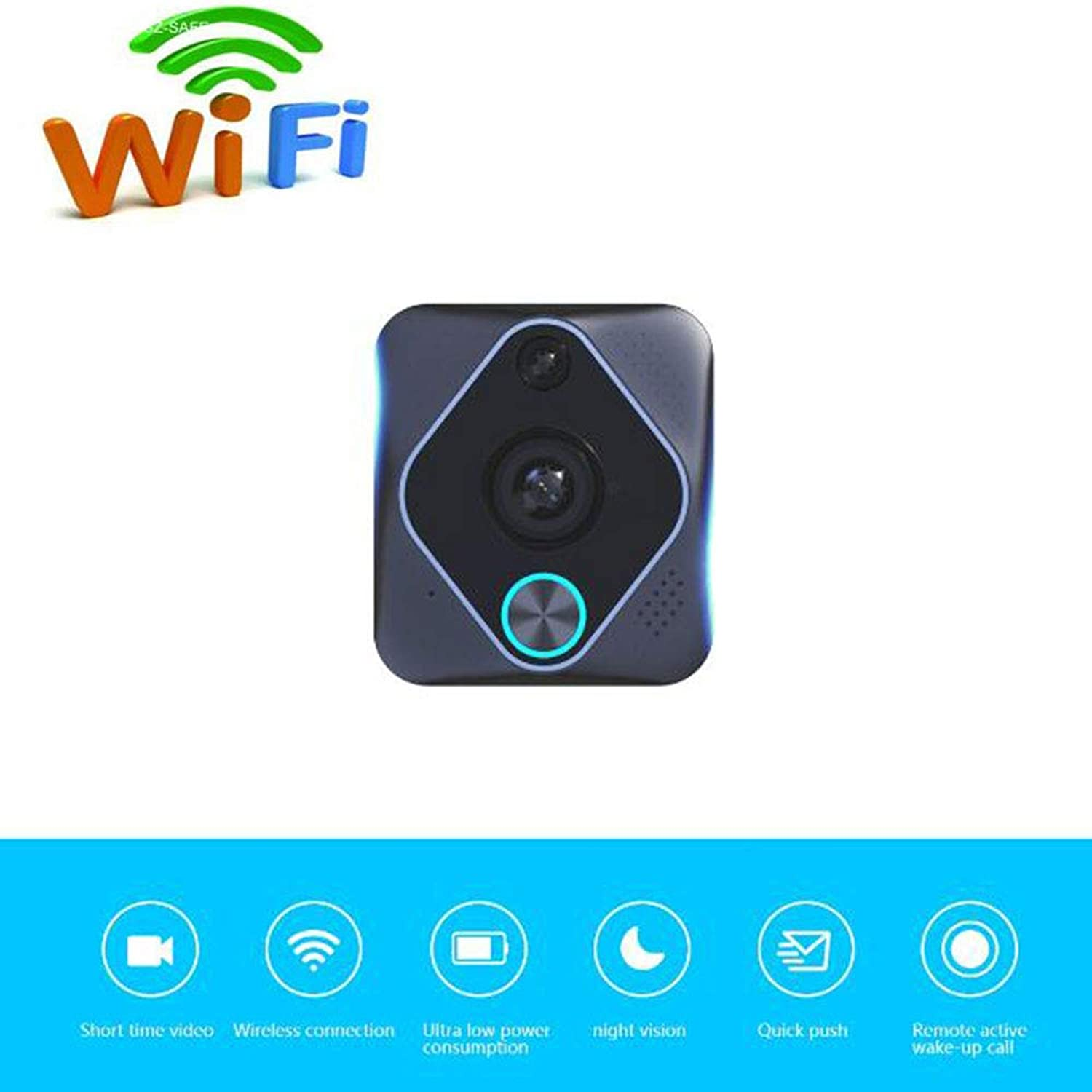 LMtt Smart Video Doorbell Wireless Antitheft Truly Wirefree Camera, 2600ma Battery, 2Way Talk, Night Vision, PIR Detection, APP Control