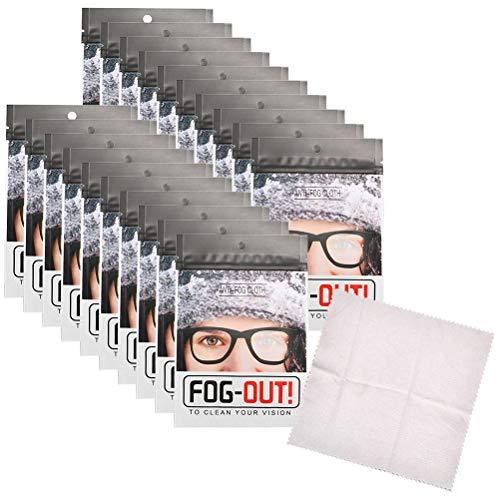 Naugust 20 piezas de gamuza antivaho para gafas reutilizables de gamuza para gafas de natación gafas de cristal