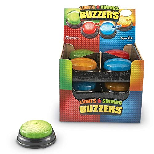 Learning Resources Lights & Sounds Answer Buzzers - Set of 12 in Display