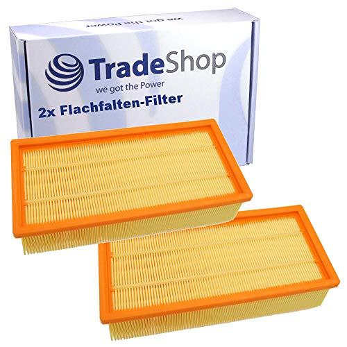 Lot de 2 filtres plissés plats de rechange - Remplace 6.904-283.0 - Pour Kärcher NT 65/2 NT 72/2 IVC 60/24-2 Ap IVC 60/30 Ap IVC 60/30 Ap M Z22 NT 65/2 Ap NT 65/2 Ap Me