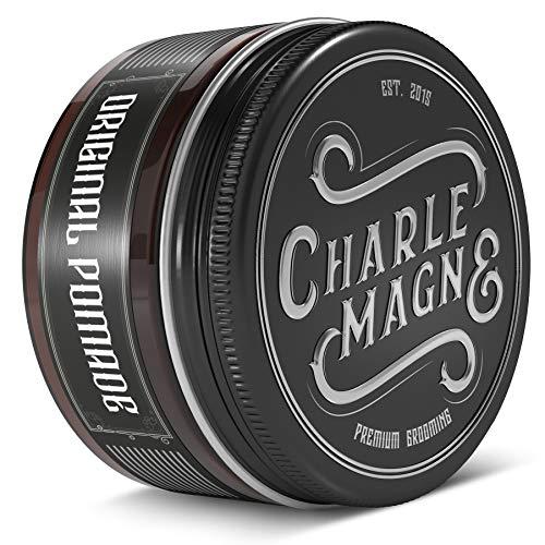 OG Pomade à base d'eau de Charlemagne - Brillance parfaite - Fixation forte et idéale - Cire coiffante pour hommes - 100ML - Cire coiffante fabriquée au Royaume-Uni - Parfum agréable - Dure
