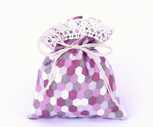 Grey /& Pink Tie Pouch