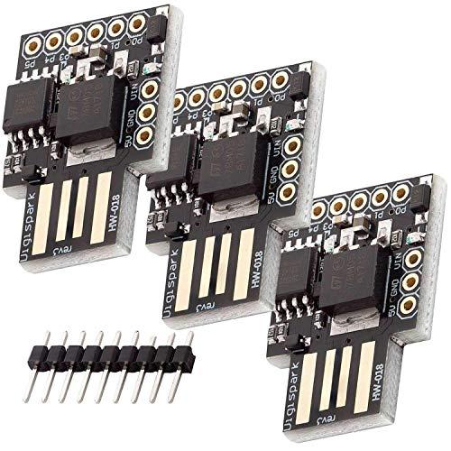 AZDelivery 3 x Digispark Rev.3 Kickstarter mit ATTiny85 und USB kompatibel mit Arduino inklusive E-Book!