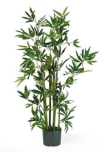 Nearly Natural 5040 Bamboo Silk Plant, 4-Feet, Green,49.5' x 9' x 9'