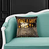 Great Home Discounts Decorative Reversible Sequin Throw Pillow: Velvety-Soft Back 18x18 Throw Cushion for Sofa, Couch, Bed, Chair & Nursery|100% Hypoallergenic Modern Décor Pillows Idea (Make a Wish)