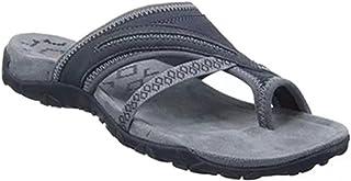 Taloit Kadın Terlik, Ortotik Sandalet Parmak Arası Terlik Plaj Günlük Sandalet Süet Üst Düz Ayakkabı Yaz İç Mekan Dış Meka...