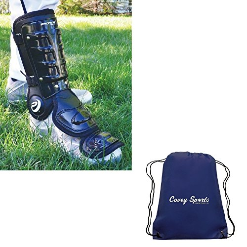 ProNine Baseball/Softball Batters Leg, Shin, Ankle Guards (Youth Size) Bundled with Covey Sports Bag