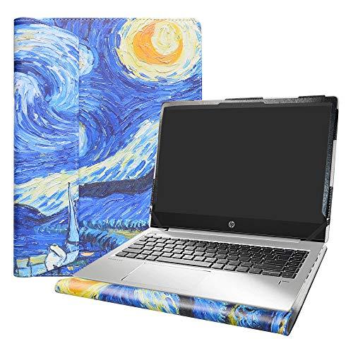 Alapmk Diseñado Especialmente La Funda Protectora de Cuero de PU para 14' HP ProBook 440 445 G6 Ordenador portátil(Not fit HP ProBook 440 G5 G2 G3 G4 G1),Starry Night