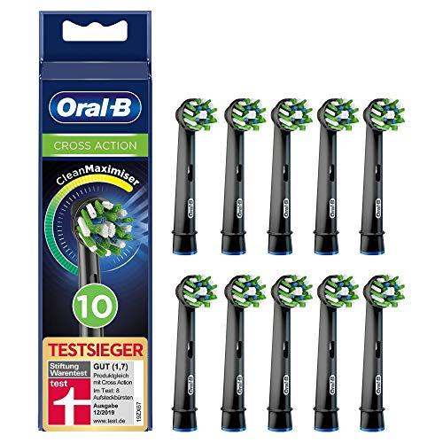 Oral-B CrossAction Ersättningshuvud till Elektrisk Tandborste, 10 st, Svart