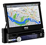 Pyle Single DIN In Dash Android Car Stereo Head Unit w/ 7inch Flip Out Touch...