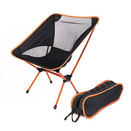 rechel Ultralight Fauteuil Chaise pliante avec sac de transport robuste portable pour camping randonnée Pêche Pique-nique Jardin BBQ Plage Patio extérieur & intérieur Siège Solide et durable