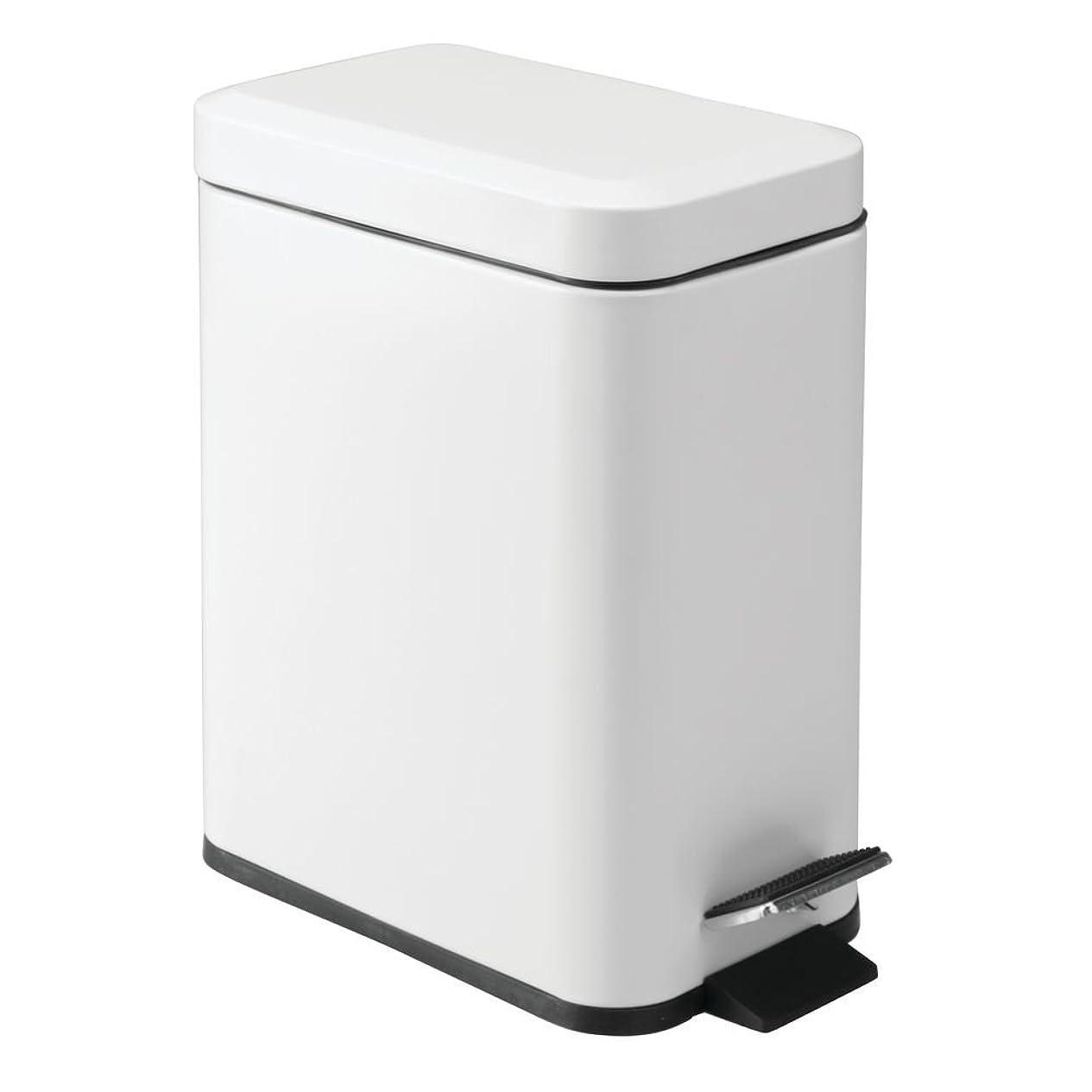 運命ウール解説InterDesign ペダル式ゴミ箱 ホワイト 12.7 x 20.3 x 28 cm 44252EJ
